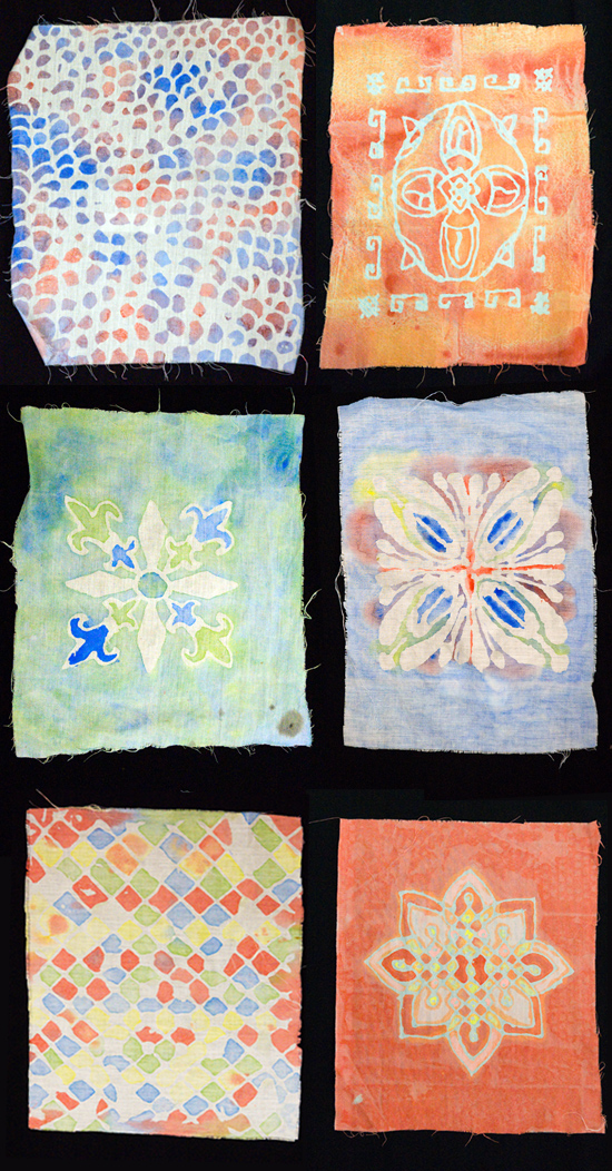 Shalanah backus students' artwork batik no wax